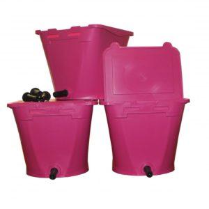 3 Kälbertränkeeimer Pink Wennemars