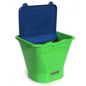 ECF 1 Drinkbak Groen met blauwe deksel
